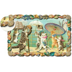 Carte Double GM 3D & ENV. 'Kitty Stroll'