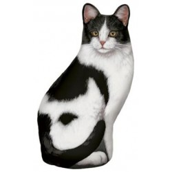 Cale-Porte Chat 'Black & White'