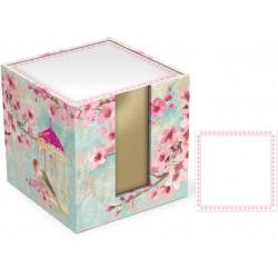 Bloc mémo cube 'Chinoiserie Garden'