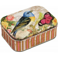 Boîte Rectangulaire PM Nostalgia 'Bird & Butterfly'