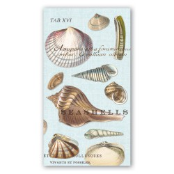 Serviettes en papier rectangulaires 'Seashells'