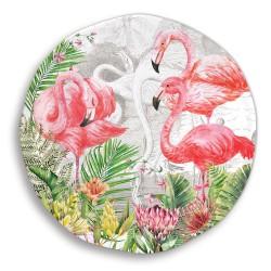 Plat rond mélamine 'Flamingo'