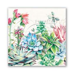 Serviettes en papier carrées 'Pink Cactus'