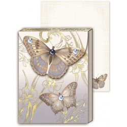 Pocket carnet de notes 'Beige butterfly'