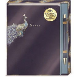 Set carnet de notes & stylo (peacock) 'Indigo Hues'