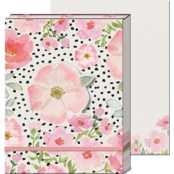 Pocket carnet de notes 'Flowers pink'