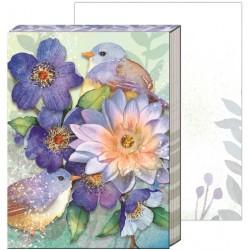 Pocket carnet de notes 'Lotus birds'