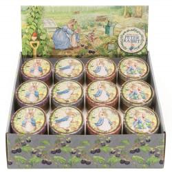 Présentoir 24 boîtes ovales 'Peter Rabbit'