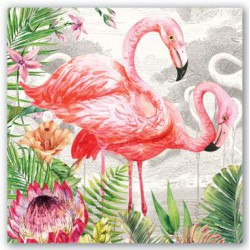 Serviettes Cocktail 'Flamingo'