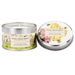 Bougie parfumée (boîte métal, 113 gr) 'Honey & Clover'