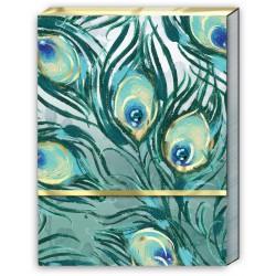 Pocket carnet de notes (Two Peacocks) 'Emerald Peacock'