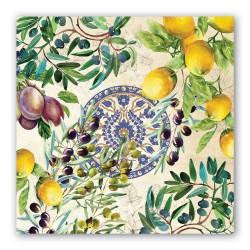 Serviettes en papier carrées 'Tuscan Grove'