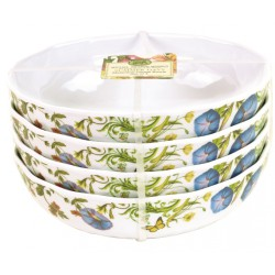 Set de 4 assiettes creuses 'Summer Days'