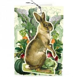 Carte double GM & env. 'FANDANGLES' (rabbit)
