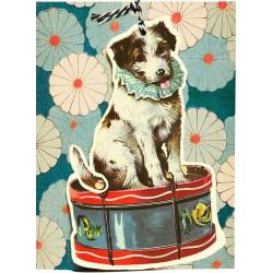 Carte double GM & env. 'FANDANGLES' (dog)