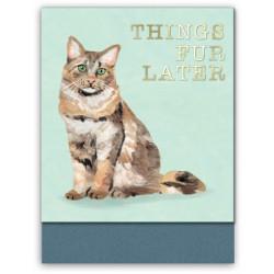 Pocket carnet de notes (cat things fur later) 'Classic Pets'