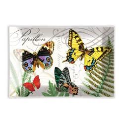 Coupelle en verre/Porte-savon 'Papillon'