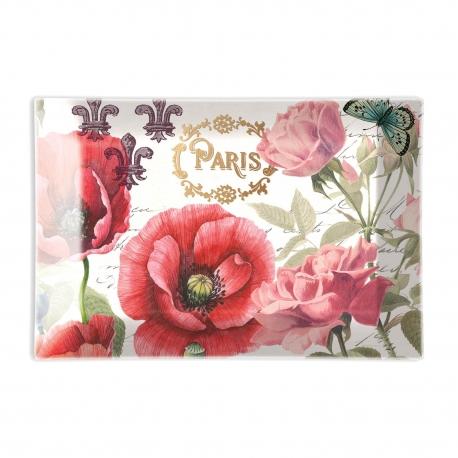 Coupelle en verre/Porte-savon 'Toujours Paris'