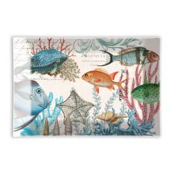 Coupelle en verre/Porte-savon 'Sea Life'