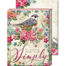 Pocket Carnet Notes 'Live Simply'