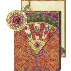 Pocket Carnet Notes 'Patchwork Eventail'