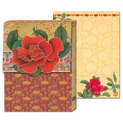 Pocket Carnet Notes 'Rose Rouge'
