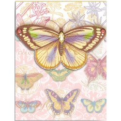 Pocket Carnet Notes 'Pastel Butterflies'