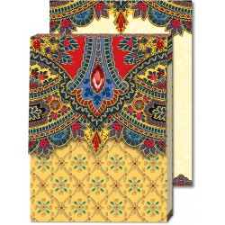 Pocket Carnet Notes Paisley 'Jaune'