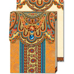 Pocket Carnet Notes Paisley 'Orange'