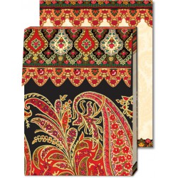 Pocket Carnet Notes Paisley 'Rouge/Noir'
