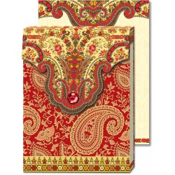 Pocket Carnet Notes Paisley 'Rouge'